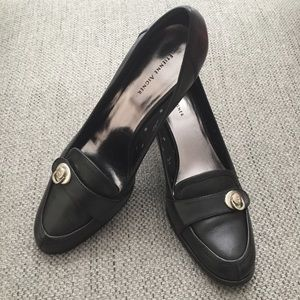 Etienne Aigner Leather Naomi Black Pump/ Mocassins